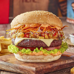 Sink your teeth into Catch 22's meat-free burger (via The National)