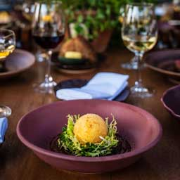 Chefs Nick Alvis and Scott Price of Folly & Scott share their Crispy Hens Egg and Beef Wellington Recipes