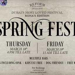 SPRING FEST @ REFORM SOCIAL & GRILL